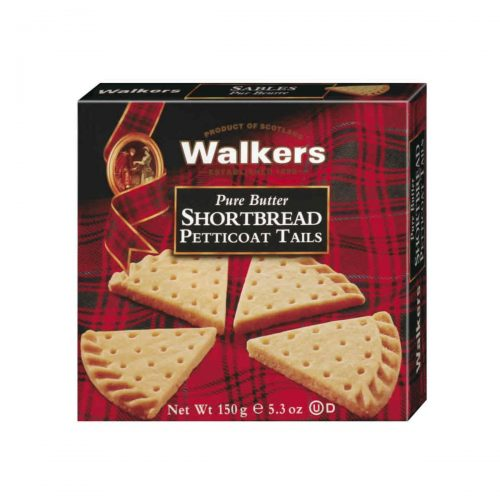 Top Food Feinkost - Walkers Shortbread Ltd. Petticoat Tails Shortbread 150g | Schottisches Buttergebäck in der klassischen Petticoat Tails Form