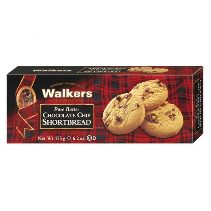Top Food Feinkost - Walkers Shortbread Ltd. Chocolate Chip Shortbread 175g | Schottisches Buttergebäck mit feinen Schokostückchen
