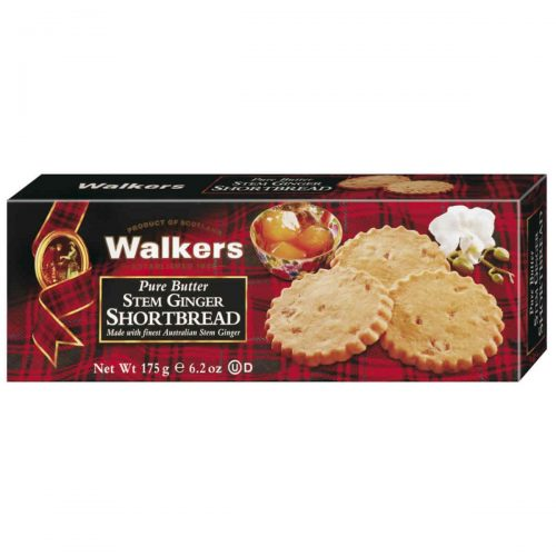 Top Food Feinkost - Walkers Shortbread Ltd. Stem Ginger Shortbread 175g | Schottisches Buttergebäck mit kandiertem Ingwer