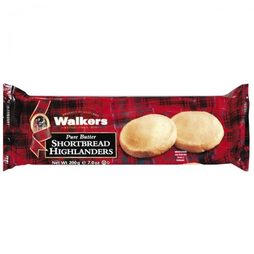 Top Food Feinkost - Walkers Shortbread Ltd. Shortbread Highlanders 200g | Shortbread Highlanders mit knusprigem Demerara Zuckerrand im Flow-Pack