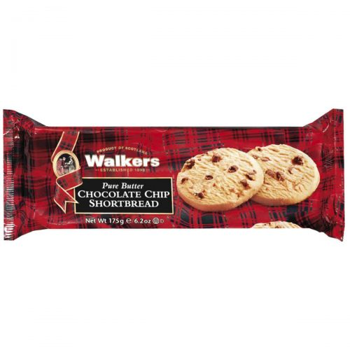 Top Food Feinkost - Walkers Shortbread Ltd. Chocolate Chip Shortbread 175g | Schottisches Buttergebäck mit feinen Schokostückchen im Flow-Pack