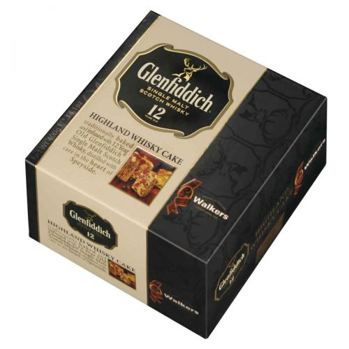 Top Food Feinkost - Walkers Shortbread Ltd. Glenfiddich Whisky Cake 400g | Früchtekuchen verfeinert mit einem Schuss Glenfiddich Single Malt Whisky