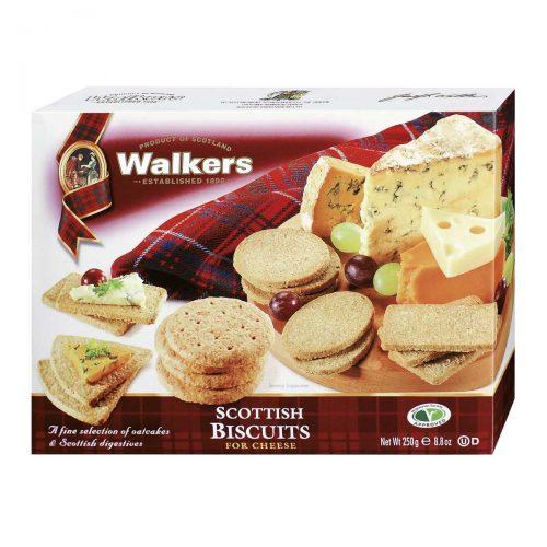 Top Food Feinkost - Walkers Shortbread Ltd. Scottish Biscuits for Cheese 250g |Gebäckmischung aus Weizen-Hafergebäck und reinem Weizengebäck in verschiedenen Formen