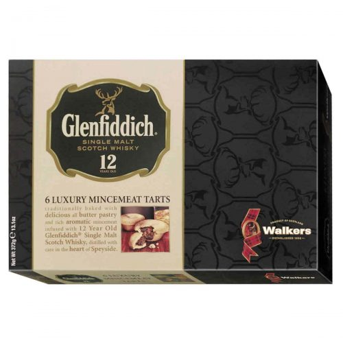 Top Food Feinkost - Walkers Shortbread Ltd. Glenfiddich Mincemeat Tarts 372g |Köstliche Buttergebäcktörtchen mit kandierten Früchten