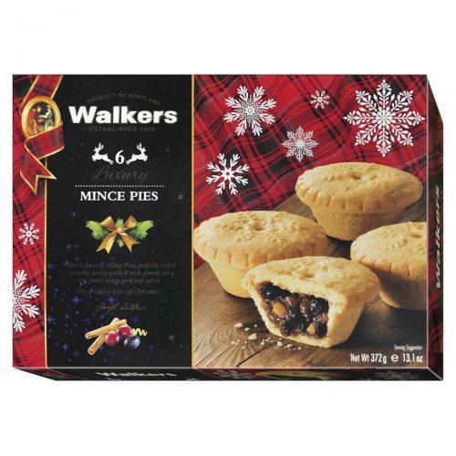 Top Food Feinkost - Walkers Shortbread Ltd. Luxury Mince Pies 372g |Buttergebäck-Törtchen mit kandierten Früchten gefüllt