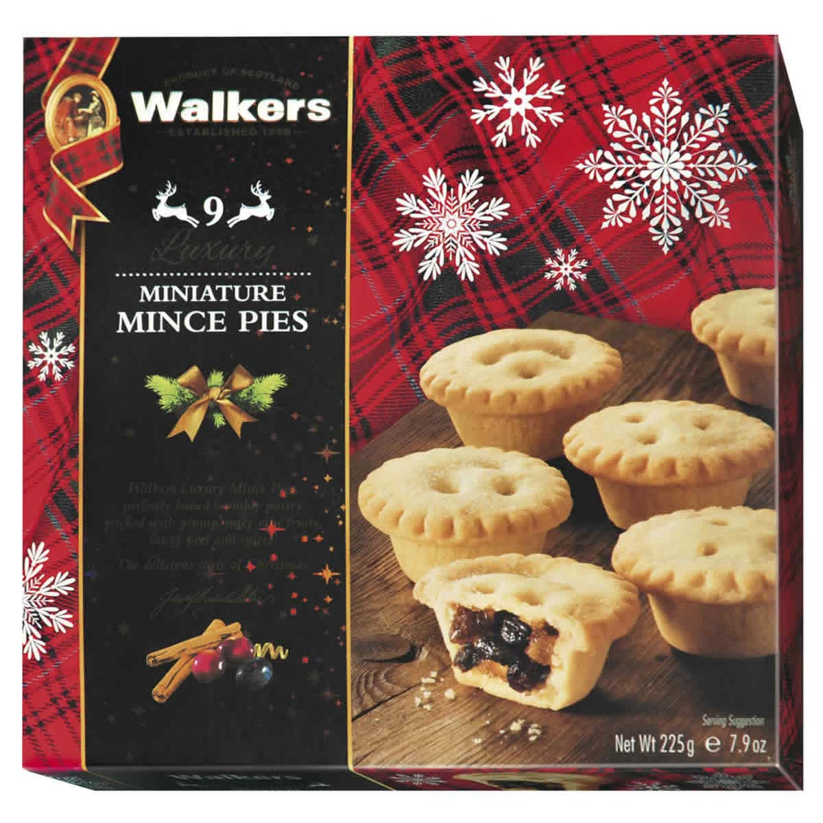 Top Food Feinkost - Walkers Shortbread Ltd. Luxury Mini Mince Pies 225g |kleine Buttergebäck-Törtchen