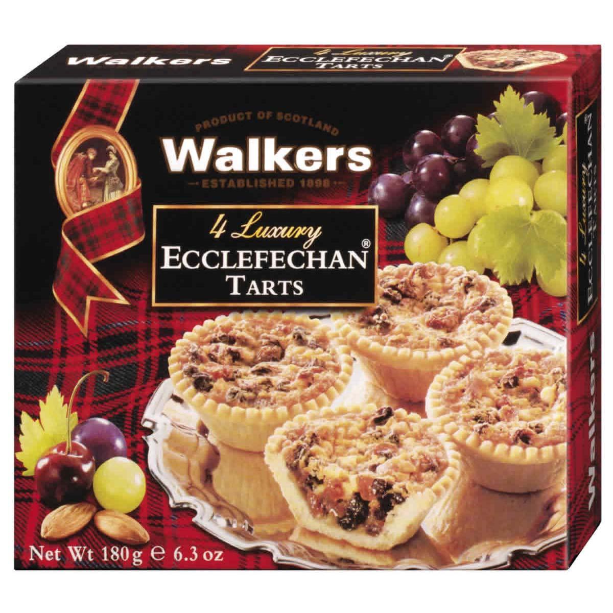 Top Food Feinkost - Walkers Shortbread Ltd. Luxury Ecclefechan Tarts 180g  Fantastische Törtchen mit einer leckeren Füllung aus saftigen Weinbeeren und Mandeln