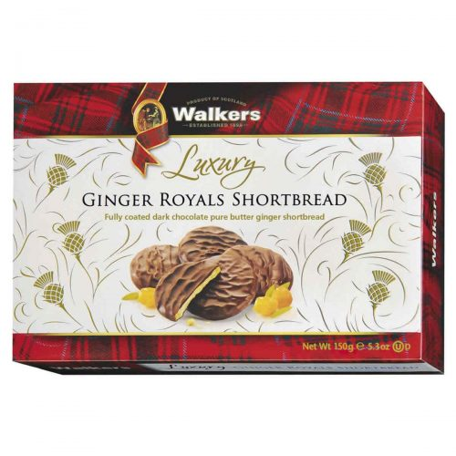 Top Food Feinkost - Walkers Shortbread Ltd. Luxury Ginger Royals Shortbread 150g | Luxuriöses Shortbread mit kandiertem Ingwer