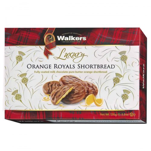 Top Food Feinkost - Walkers Shortbread Ltd. Luxury Orange Royals Shortbread 150g | Luxuriöses Shortbread mit kandierter Orange