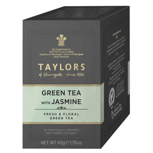 Top Food Feinkost - Taylors of Harrogate Green Tea with Jasmine 40g - 20 Aufgussbeutel |Grüner Jasmintee in einer praktischen Portionierpackung