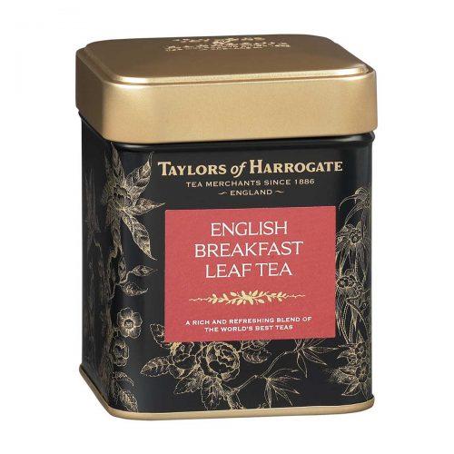 Top Food Feinkost - Taylors of Harrogate English Breakfast Leaf Tea 125g |Teemischung aus verschiedenen Ländern in einer attraktiven Geschenkdose