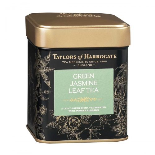 Top Food Feinkost - Taylors of Harrogate Green Tea with Jasmine Leaf Tea 125g |Grüner Tee mit herrlicher Jasmin Note in einer attraktiven Geschenkdose