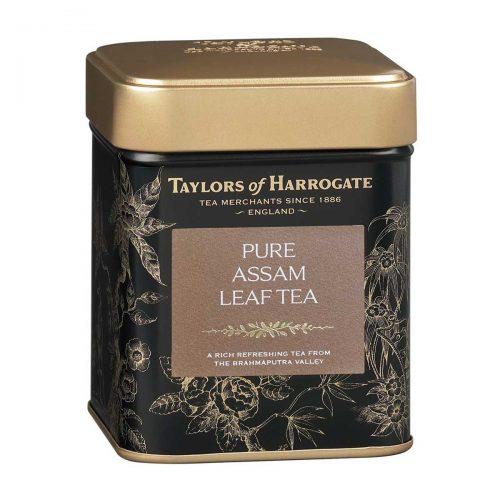 Top Food Feinkost - Taylors of Harrogate Pure Assam Leaf Tea 125g |Feinster Assam Tee in einer attraktiven Geschenkdose