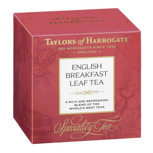 Top Food Feinkost - Taylors of Harrogate English Breakfast Leaf Tea 125g |Teemischung aus verschiedenen Ländern in einer hübschen Geschenkpackung