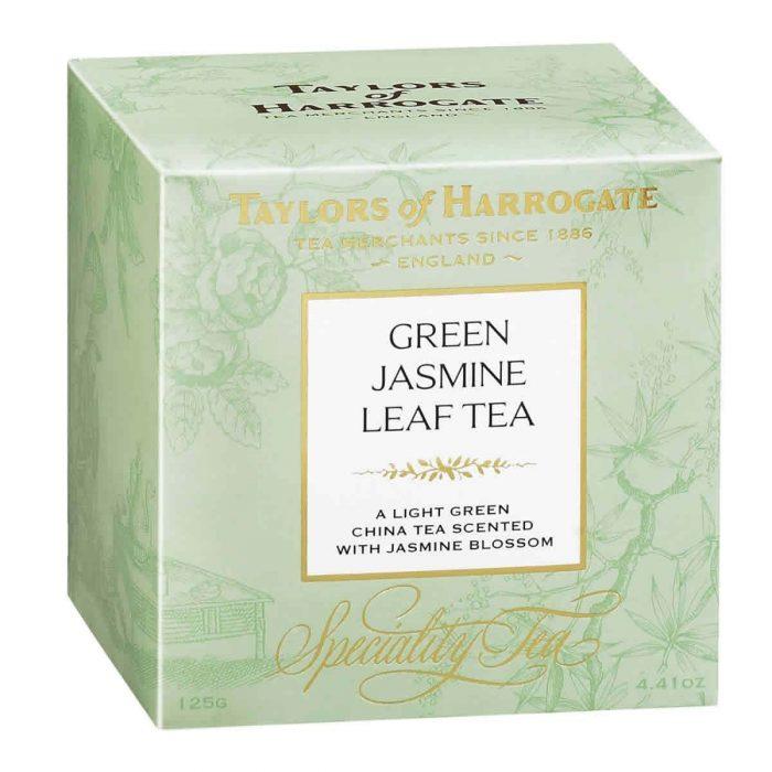Top Food Feinkost - Taylors of Harrogate Green Tea with Jasmine Leaf Tea 125g  Grüner Tee mit herrlicher Jasmin Note in einer hübschen Geschenkpackung