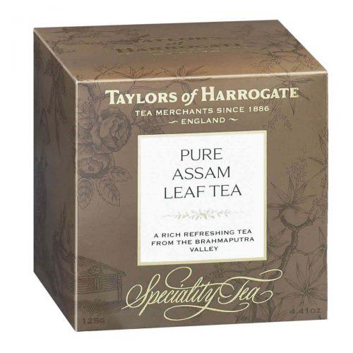Top Food Feinkost - Taylors of Harrogate Pure Assam Leaf Tea 125g |Feinster Assam Tee in einer hübschen Geschenkpackung