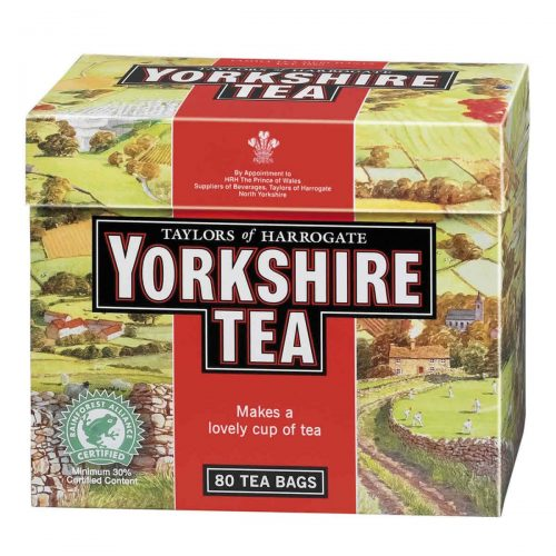 Top Food Feinkost - Taylors of Harrogate Yorkshire Tea 250g (80 Aufgussbeutel)  Schwarzer Tee (eine Mischung aus 30 verschiedenen Schwarztees)