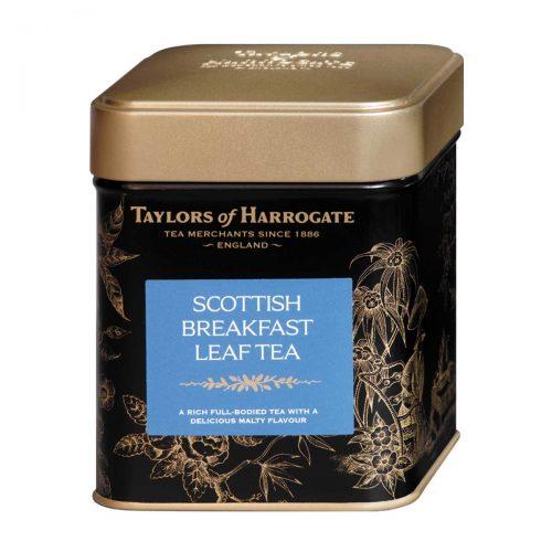 Top Food Feinkost - Taylors of Harrogate Scottish Breakfast Leaf Tea 125g |Schottische Teemischung aus bester Assam-Qualität sowie afrikanischen Tees in einer attraktiven Geschenkdose