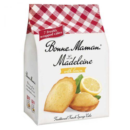 Top Food Feinkost - Bonne Maman La Madeleine citron 175g |französische Madeleines mit Zitronengeschmack. 7 Stück einzeln verpackt in Frischhaltefolien