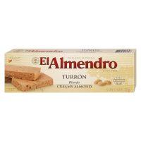 Top Food Feinkost - El Almendro Turrón  Blando 75g |weicher weißer Nougat aus  gerösteten Mandeln