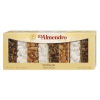Top Food Feinkost - El Almendro Turrón Selection 200g |Auswahl von weißem Nougat