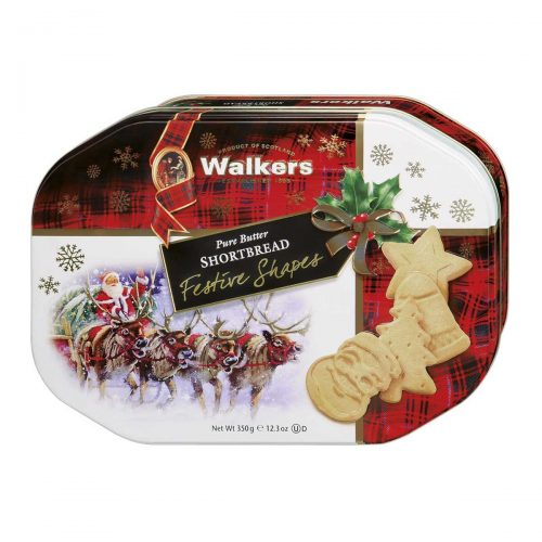 "Top Food Feinkost - Walkers Shortbread Ltd. Shortbread ""Festive Shapes"" 350g - Dose 