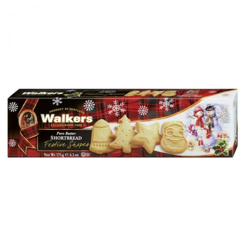 Top Food Feinkost - Walkers Shortbread Ltd. Festive Shapes Shortbread 175g | Shortbread in weihnachtlichen Formen: Glocke