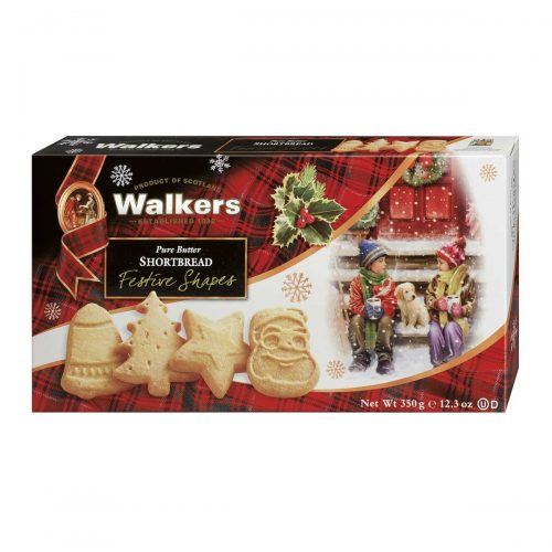 Top Food Feinkost - Walkers Shortbread Ltd. Festive Shapes Shortbread 350g | Shortbread in weihnachtlichen Formen: Glocke