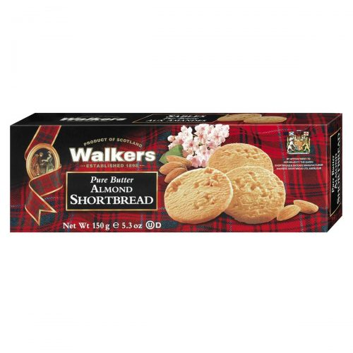 Top Food Feinkost - Walkers Shortbread Ltd. Almond Shortbread 150g | Schottisches Buttergebäck mit Mandeln