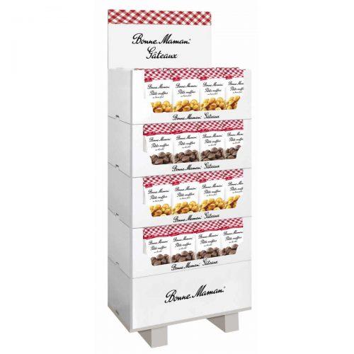 Top Food Feinkost - Bonne Maman Muffins-Display 2-fach sortiert |Display 80-tlg. mit 2 Sorten Muffins gefüllt: