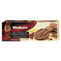 Top Food Feinkost - Walkers Shortbread Ltd. Milk Chocolate Digestive Biscuits 150g | Vollkornkekse mit Milch-Schokoladenüberzug