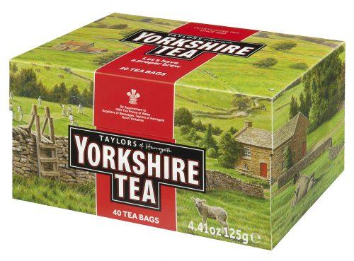 Top Food Feinkost - Taylors of Harrogate Yorkshire Tea 125g - 40 Aufgussbeutel |Schwarzer Tee (eine Mischung aus 30 verschiedenen Schwarztees)