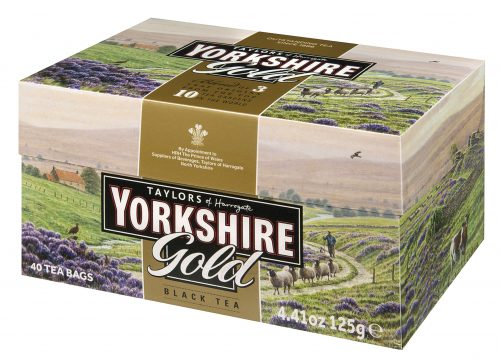 "Top Food Feinkost - Taylors of Harrogate Yorkshire Gold Tea 125g - 40 Aufgussbeutel |40 Teebeutel des beliebten Yorkshire Tea's  in der eleganten Mischung ""Gold"""