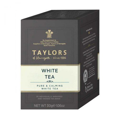 Top Food Feinkost - Taylors of Harrogate White Tea 30g - 20 Aufgussbeutel |Weißer Tee mit fruchtig-eleganter Note