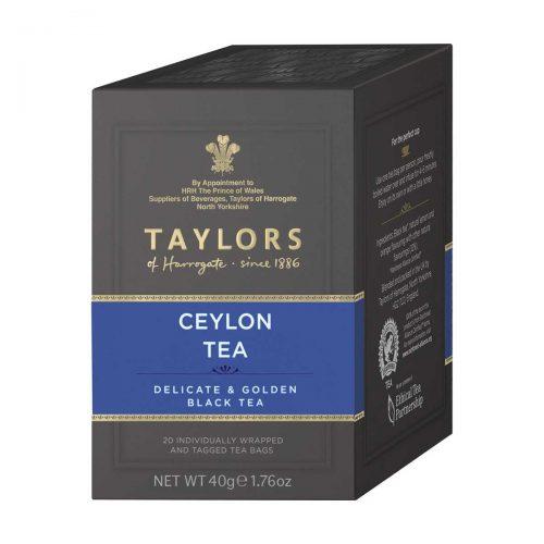 Top Food Feinkost - Taylors of Harrogate Ceylon Tea 40g - 20 Aufgussbeutel |feiner Ceylon Tee