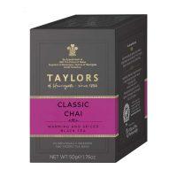Top Food Feinkost - Taylors of Harrogate Classic Chai Tea 50g - 20 Aufgussbeutel |Klassischer Chai mit feinen Gewürzen veredelt