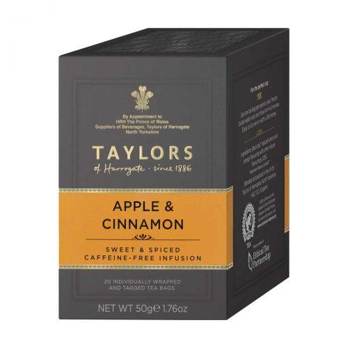Top Food Feinkost - Taylors of Harrogate Apple & Cinnamon Tea 50g - 20 Aufgussbeutel |Früchtetee mit Apfel und Zimt