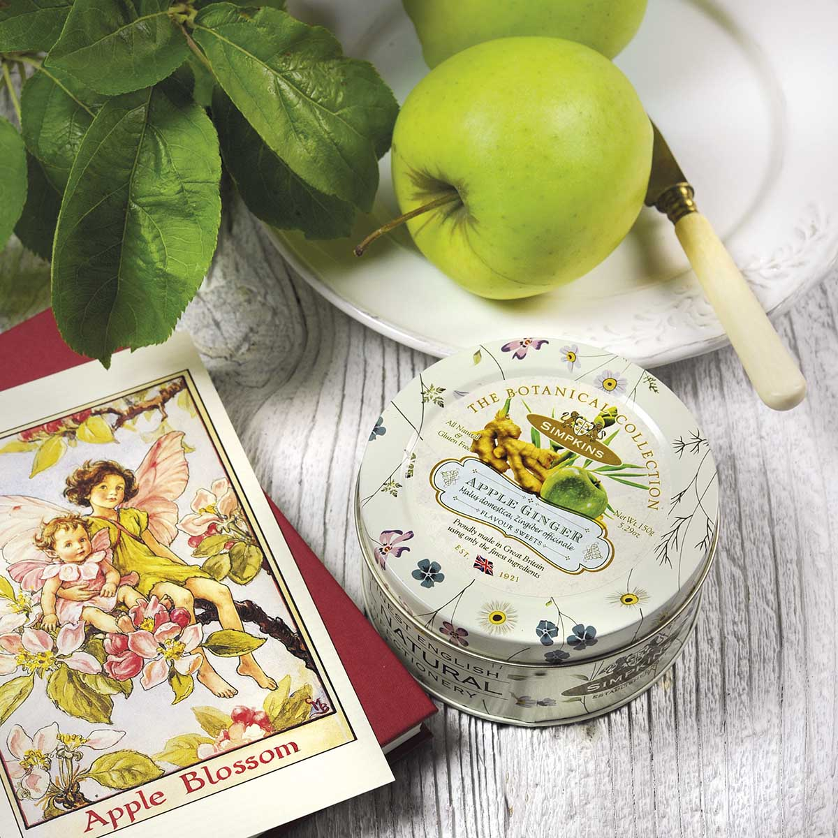Top Food Feinkost - Simpkins Travel Sweets Botanical Collection - Apple Ginger Drops