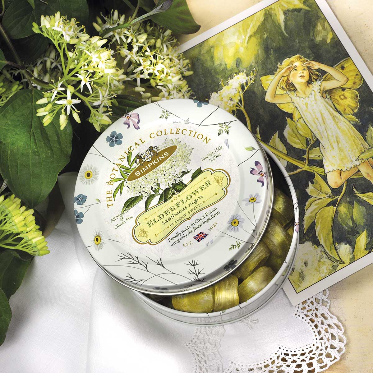 Top Food Feinkost - Simpkins Travel Sweets Botanical Collection - Elderflower