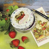 Top Food Feinkost - Simpkins Travel Sweets Botanical Collection - Strawberry Drops